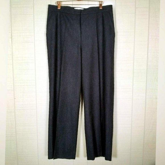 MaxMara Pants - MaxMara High Rise Wool Angora Pinstripe Trousers